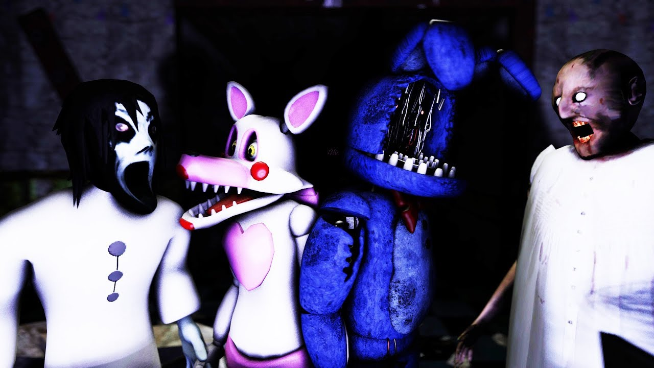How to make slendrina granny not scary 5 feat mangle withered bonnie in fnaf 3 youtube - Fnaf 3 not scary ...