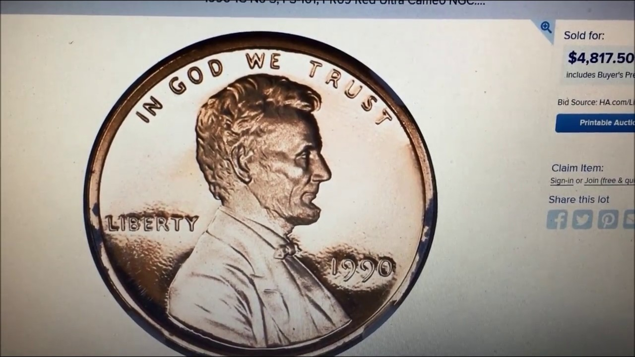 1990 NO S PENNY SELLS FOR $4817!! HOW TO FIND THEM WHAT TO LOOK FOR