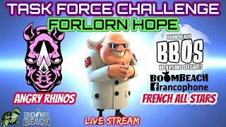 Boom Beach - TF CHALLENGE! LIVE on YouTube! Angry Rhinos vs French All Stars - FORLORN HOPE thumbnail