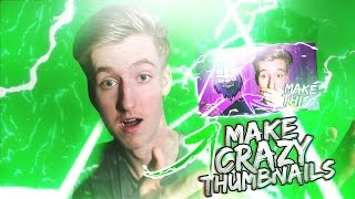 How To Make EPIC Thumbnails And Gain More Views! + FREE Template