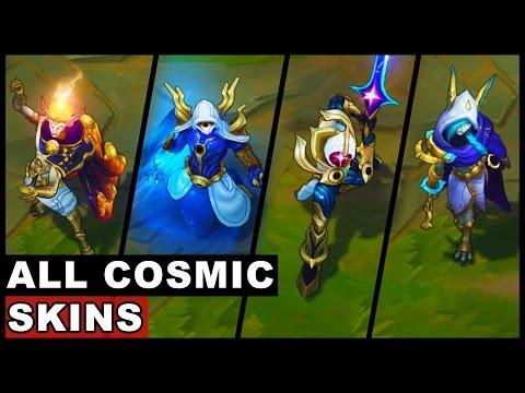 All Cosmic Blade Cosmic Reaver Cosmic Dusk Cosmic Dawn Skins Master Yi Kassadin Xayah Rakan (LoL)