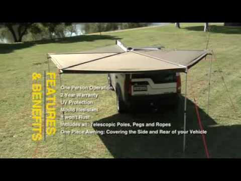 Oztent Rhino Rack Foxwing Awning Youtube