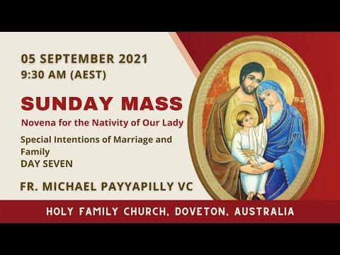 Sunday Mass   05 September 9:30 AM (AEST)   Holy Family Church, Doveton