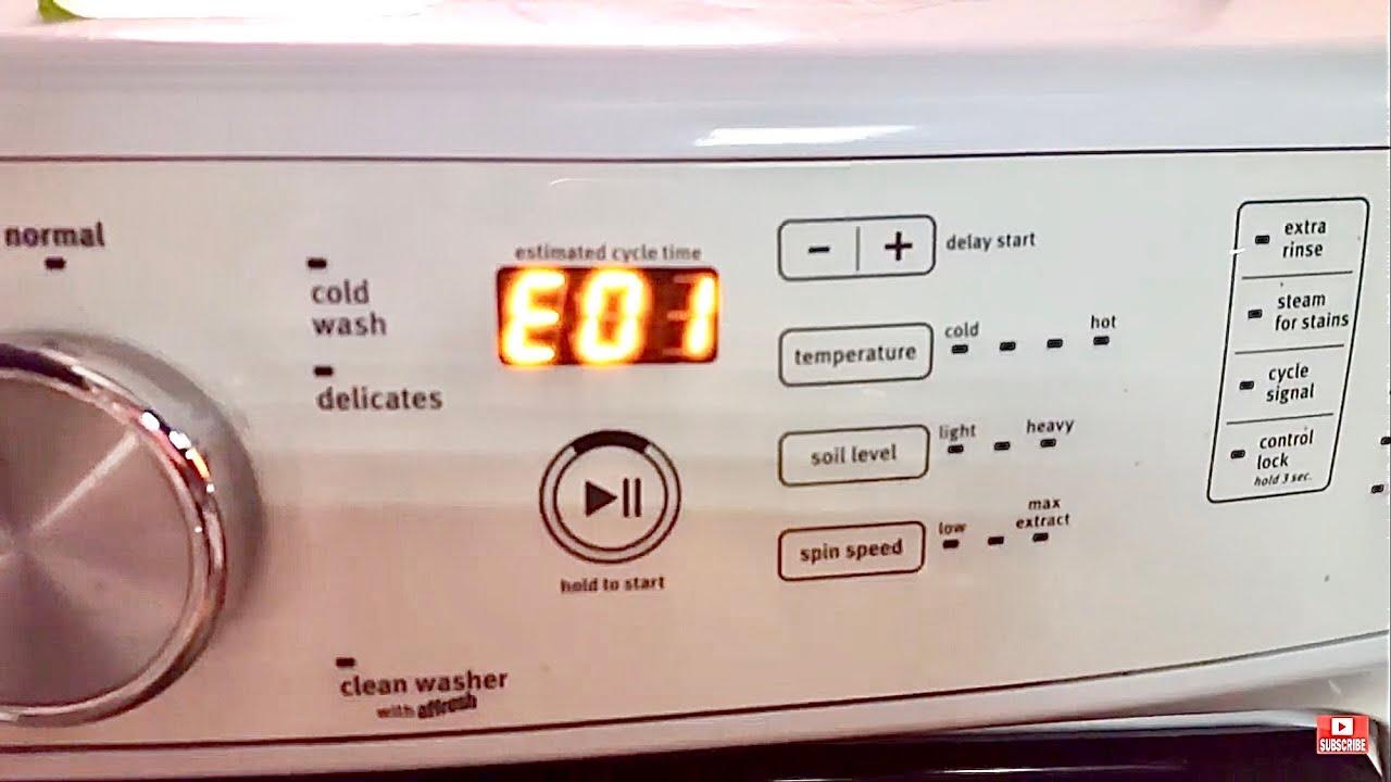 Download MAYTAG WASHER CODE - F09 E01 &  F03 E01 EASY DIY FIX - Washing Machine Not Draining - Whirlpool - GE