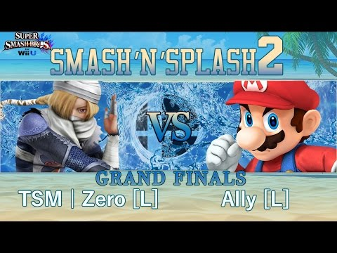 Smash'N'Splash 2  GRAND FINALS - TSM | Zero [W] (Sheik, Cloud, Diddy) vs Ally [L] (Mario)