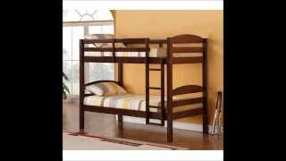 We Furniture Twin   Twin Solid Wood Bunk Bed -- Espresso