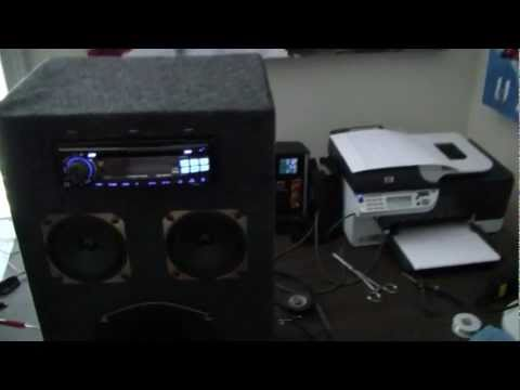 DIY mp3 amp from car stereo and computer power supply