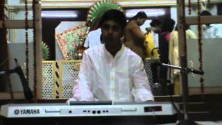 Vishnu playing Bantu Reethi Kolu - Carnatic Fusion Music on Keyboard