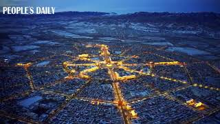 Located in Northwest China's Xinjiang, Tekes county is a town designed in the shape of bagua