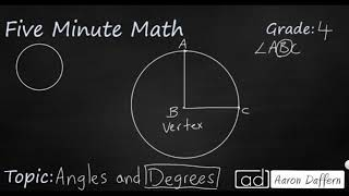 4th Grade Math Angles and Degrees