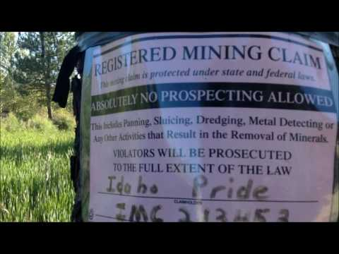 Vlog: Gold Mine Claim off 304 outside Idaho City Town, Idaho