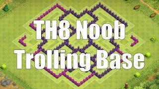 Clash of Clans - TH8 Noob Trolling Base (Speedbuild - Black Hole)