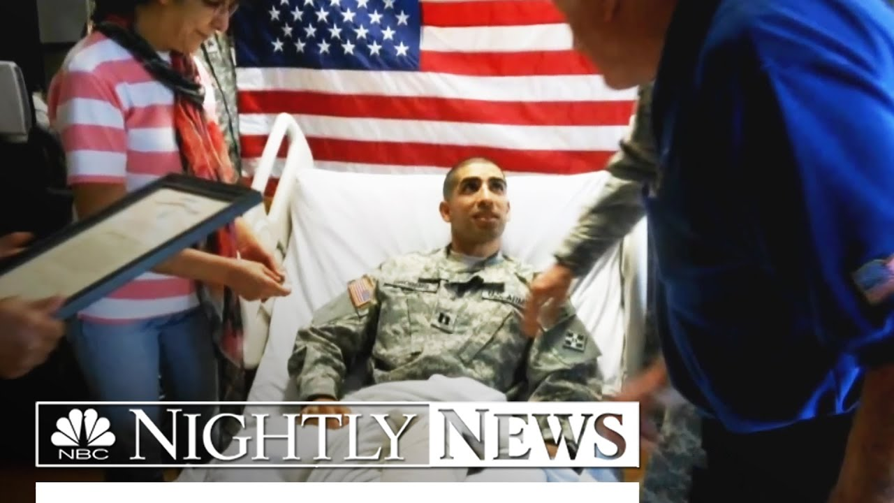 Profile in Courage: Capt  Florent Groberg Awarded Medal of Honor | NBC  Nightly News