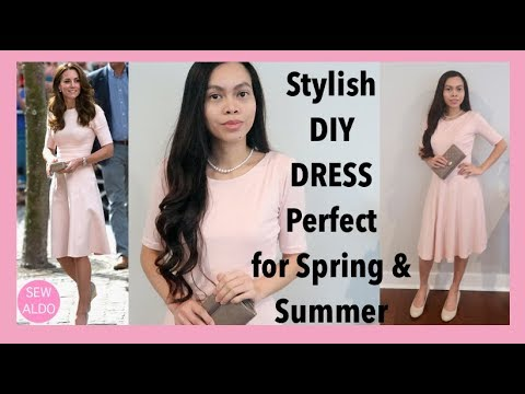 HOWTO DIY KATE MIDDLETON INSPIRED DRESS | SEWING FOR BEGINNERS | Sew Aldo