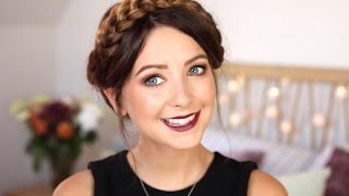 Autumn/Fall Makeup | Gold Eyes & Berry Lips | Zoella