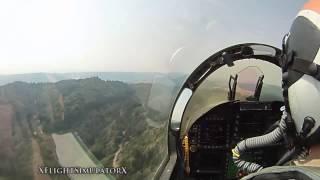 полёт на истребителе от первого лица   HD