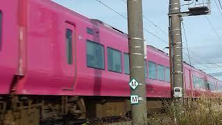 E653系1000番台 はまなす色 特急いなほ8号 新崎駅付近通過