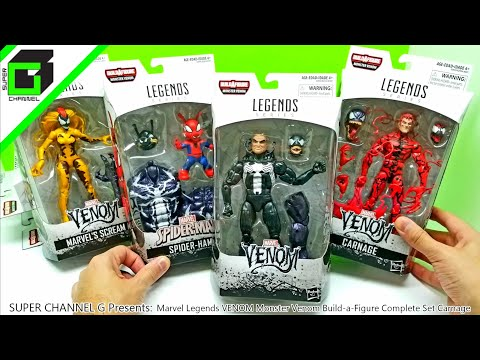UNBOXING Marvel Legends VENOM Monster Venom Build a Figure Complete Set Carnage Full Version