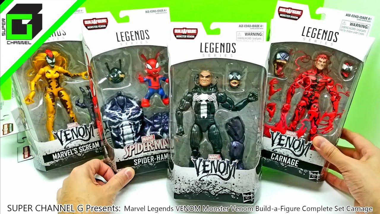 UNBOXING Marvel Legends VENOM Monster Venom Build a Figure Complete Set  Carnage Full Version