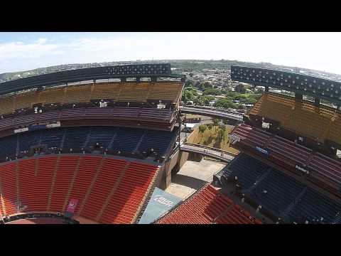 Aloha Stadium in Hawaii on the island of Oahu DJI Phantom Drone