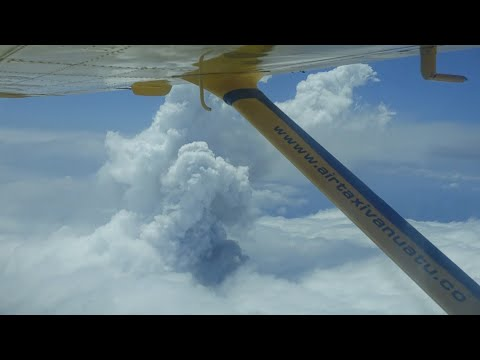 Smoke billows from Vanuatu