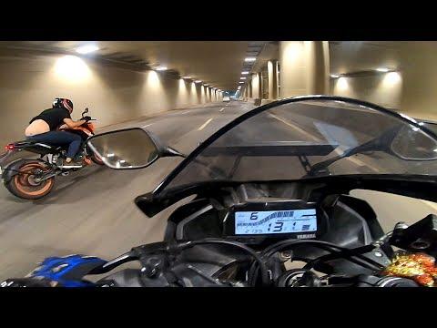 KTM Duke 200 Vs YAMAHA r15 v3 | Highspeed Battle