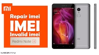 Repair imei Xiaomi MI Redmi Note 4 (Invalid Imei)