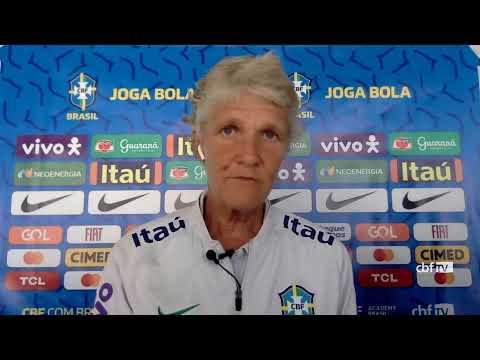 Seleção Feminina: coletiva de imprensa com a técnica Pia Sundhage