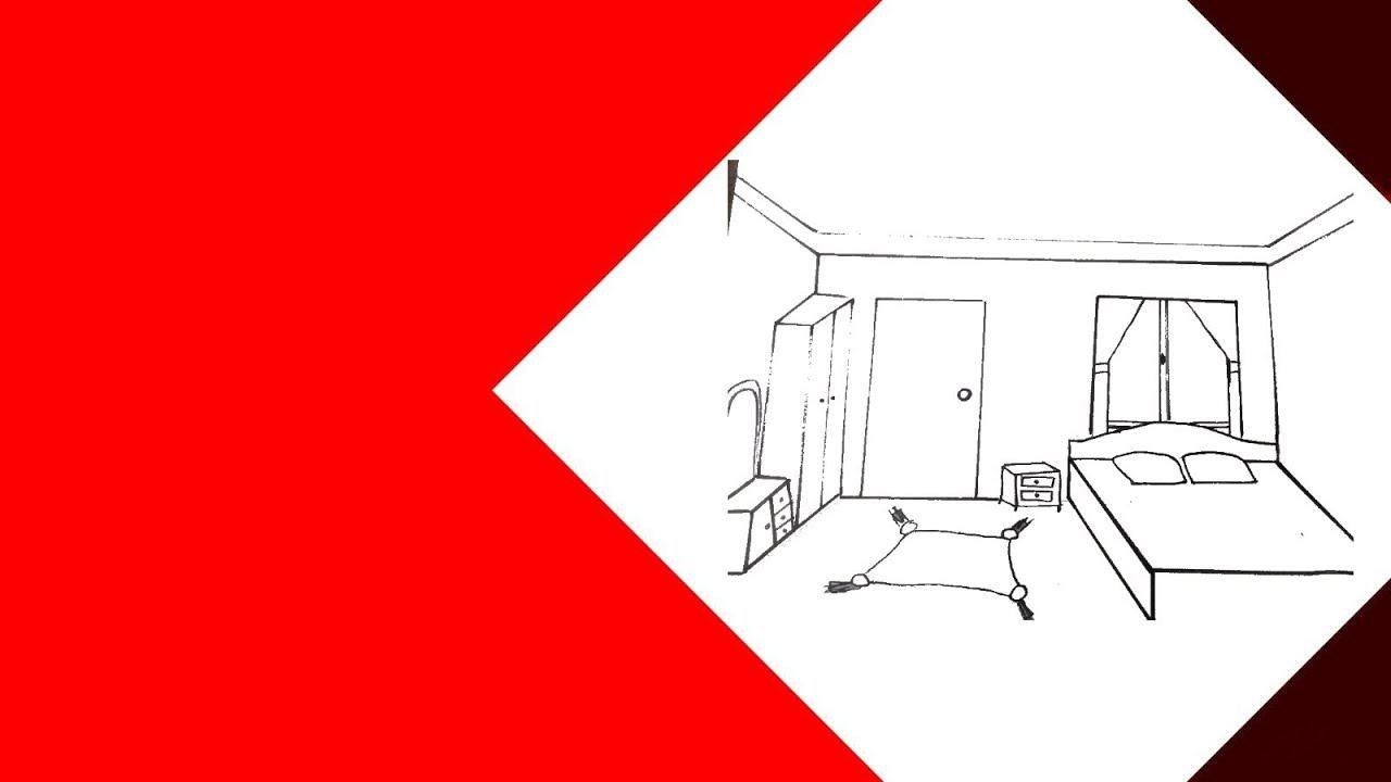 رسم رسم غرفة نوم بالرصاص خطوة بخطوة بسهولة Youtube