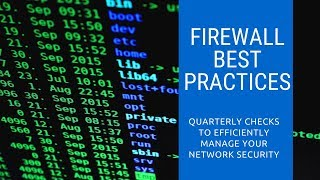 Firewall Best Practices | Security Basics