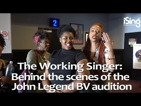 Behind the scenes of the John Legend Backing Vocals audition