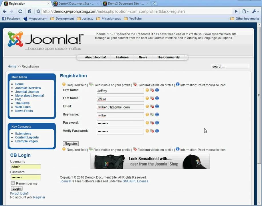 Joomla   Community Builder