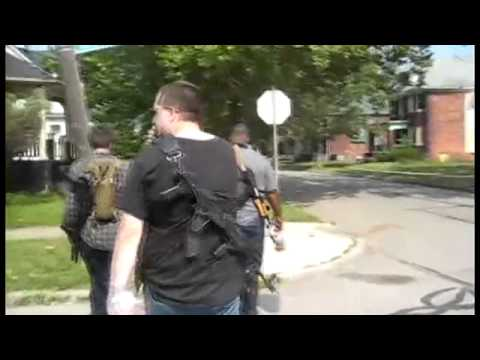 Local Detroit Citizens Carrying Assault Weapons Full Vid