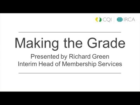 Event: Making the Grade (a CQI Roadshow)