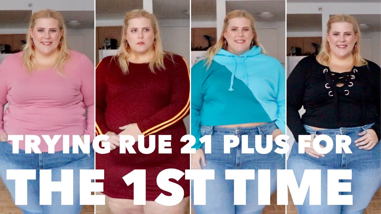 affordable plus size haul + try on: first time trying rue 21 - youtube