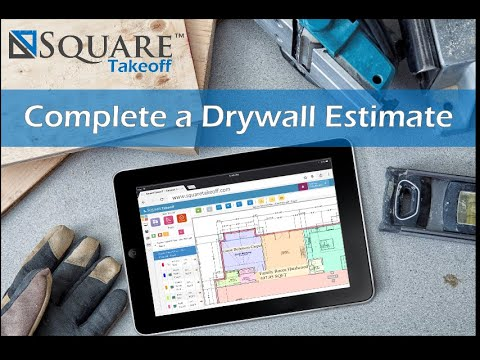 Drywall Takeoff and Estimate How To Video