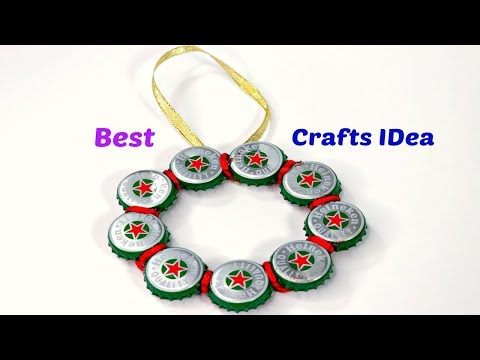 DIY Arts & Crafts with Waste Metal Bottle Caps   Best Out of waste