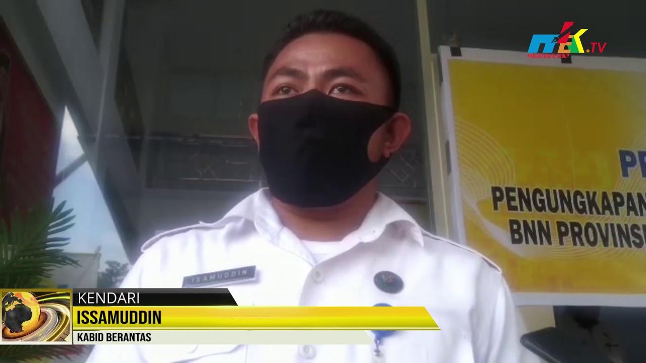 90 Gram Ganja Diamankan BNNP Sultra, Pengedar Menerima Ganja Melalui Jasa Pengiriman