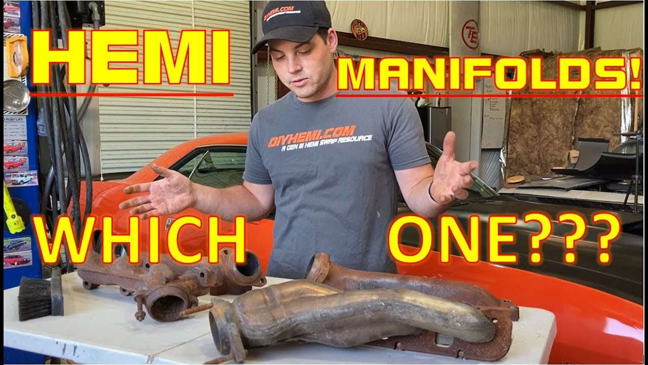hemi exhaust manifold differences find out which is best for your swap from the 5 7l to 6 4l