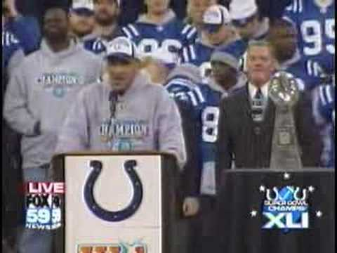 Tony Dungy Talks at Colts Superbowl Celebration in Indy