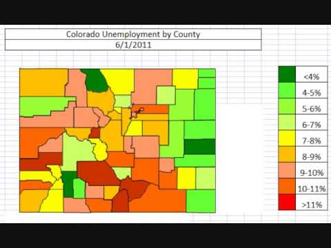 Map: Colorado Unemployment by County October 2013