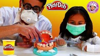 Play Doh Doktor Wackelzahn deutsch Dr Drill n Fill - Wir spielen Zahnarzt mit Knetmasse