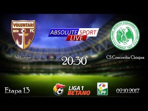LIVE FC Voluntari - CS Concordia Chiajna - Etapa 13 - Liga 1 - 02/10/2017