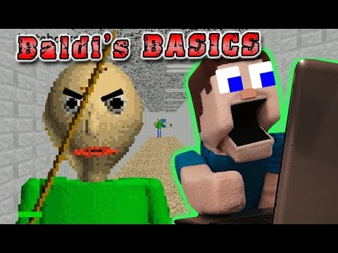 BALDIs BASICS vs PUPPET STEVE Gameplay - The Notebook Mission Animation Song