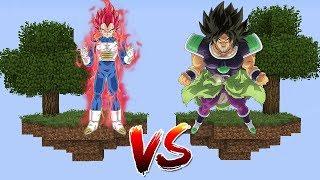 ILHA DO VEGETA SUPER SAIYAJIN GOD VS ILHA DO BROLY no MINECRAFT !! (DRAGON BALL SUPER FILME)