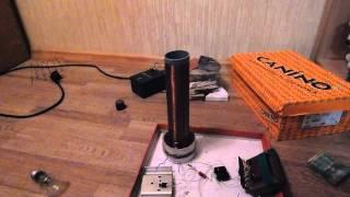 Катушка Тесла своими руками(В данном видео я покажу катушку теслы которую я собрал сам. Детали которые я использовал. Транзистор - D13007(п..., 2015-01-14T14:19:28.000Z)