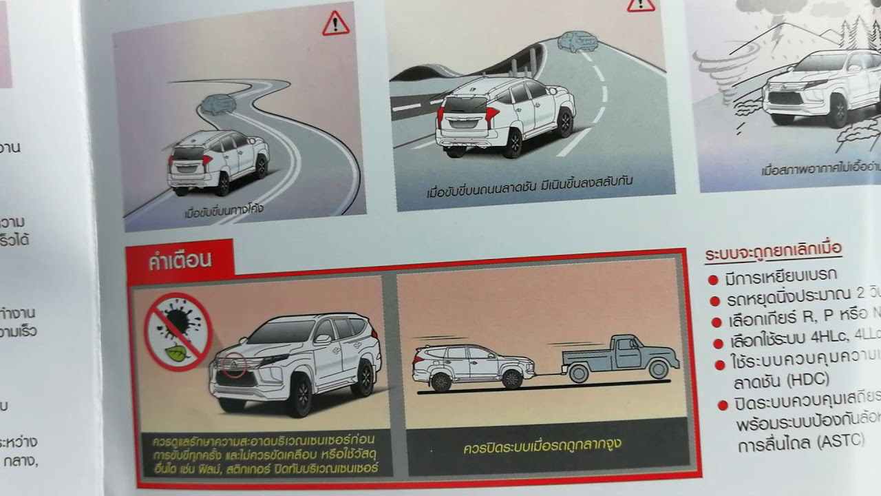 รีวิวคู่มือรถ New Pajero Sport 2020 มีระบบอะไรใหม่บ้างดันเจอว่ามีข้อมูลรุ่น plug in hybrid นาทีที่ 6