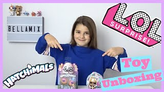 LOL Winter Disco Ball Build A Snowman and Hatchimal Toy Unboxing | Bella Mix