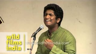 Carnatic vocalist Aadarsh M. Nair