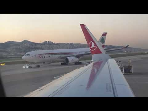 THY - Turkish Airlines A321 Flight TK827 Full Trip - From Beirut To Istanbul (2017-12-01)